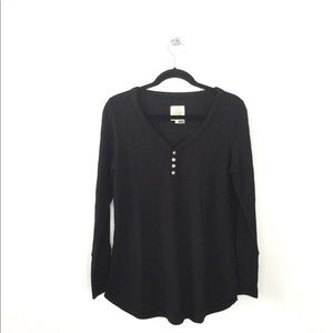 Chaser Waffle Henley Top
